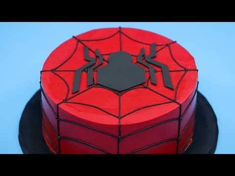 HOW TO MAKE A SPIDERMAN CAKE - NERDY NUMMIES