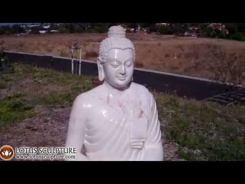 SOLD Marble Meditating Buddha Statue 48