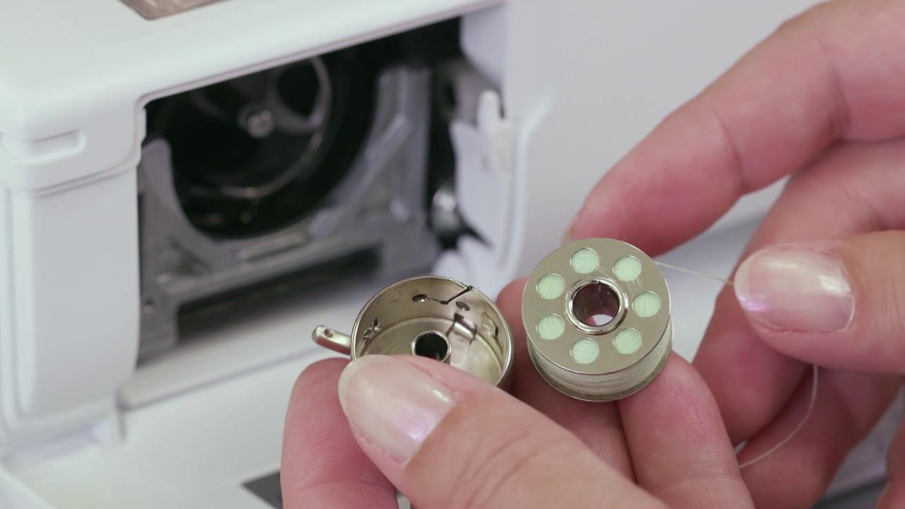 Nähmaschine vorbereiten: Einfädeln und spulen mit der BERNINA 335