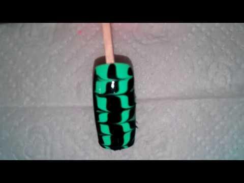 Маникюр рисунки на ногтях обычным лаком и иглой №3 (Figures on nails ordinary nail and needle №3