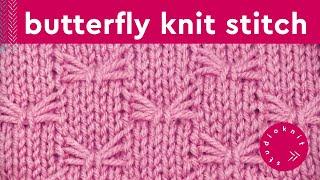 Butterfly Stitch | Slip Stitch Knitting Pattern
