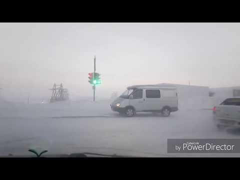 Норильск 12.01.2018  -38 мороз и сильный туман