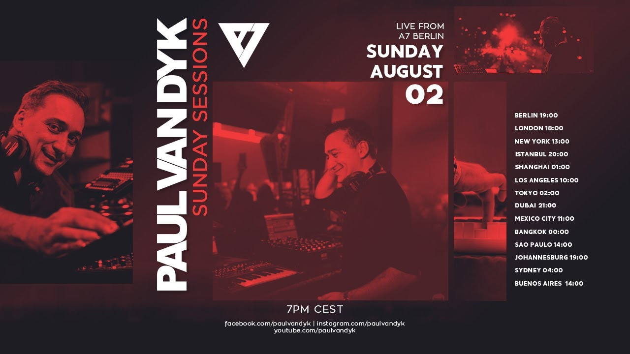 Paul van Dyk - Live @ Sunday Sessions #21 x ASeven Club Berlin 2020