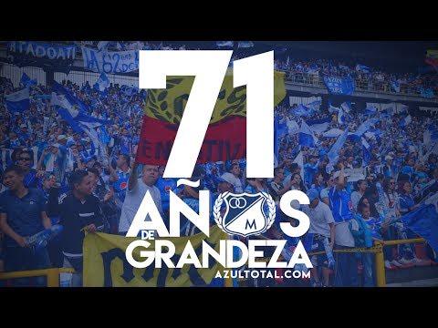 """""""Cumpleaños 71 de Millonarios"""" Barra: Comandos Azules • Club: Millonarios • País: Colombia"""