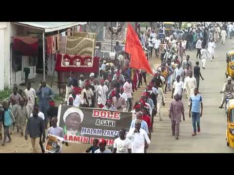 Free Zakzaky protest on Friday 17/8/2018  at kano by members of the Islamic movement in Nigeria.