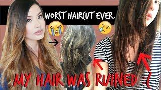 THE WORST HAIRCUT FAIL EVER   My Hair Got Butchered :(