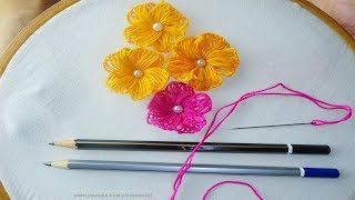 Hand Embroidery amazing Tricks #9| Sewing Hack with Wood Pencil|super easy embroidery trick