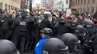 INAUGURATION PROTEST:  Raw Video Of Washington Demonstration At Trump Inauguration