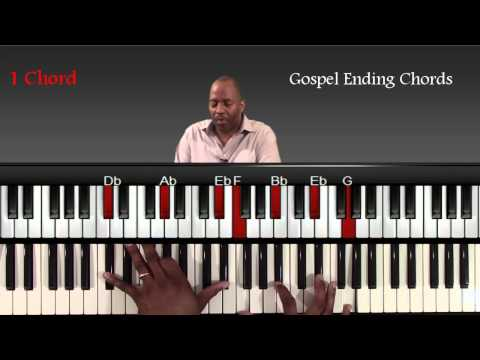 Gospel piano ending chords and progressions