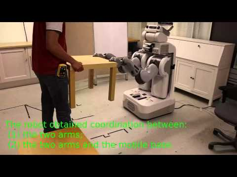 Robot manipulation with the Virtual kinematic chain method