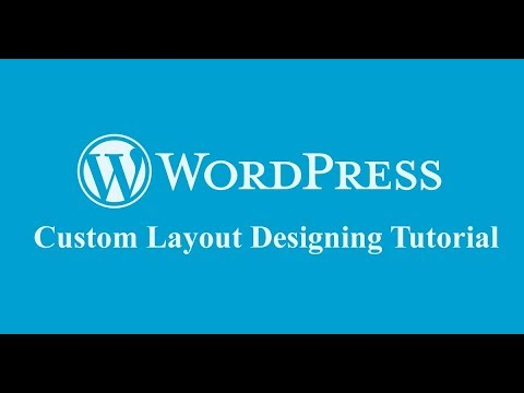 video tutorial on how to create custom layout design for frontend pages in wordpress with page builder?