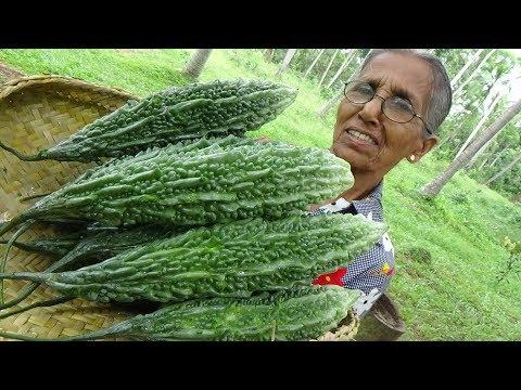 Bitter Gourd Masala Curry ❤ Healthy Village Food by Grandma | Village Life