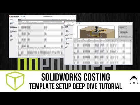 SOLIDWORKS Tutorial - Costing Template Setup - YouTube