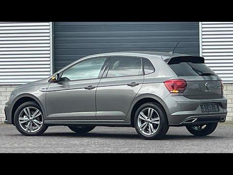 Volkswagen NEW Polo R-line in 4K 2021 Limestone Grey 16 inch Sebring walk around & detail inside