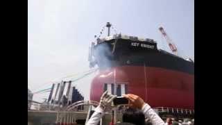 2012年5月9日常石造船進水式Thelaunchingceremony