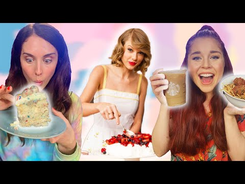 Eating Taylor Swift's Favorite Foods! Her Starbucks Order, Fave Cocktail, Recipe & More (Cheat Day)