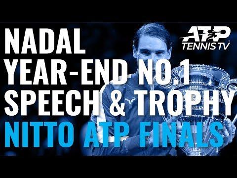 Rafa Nadal Year-End No. 1 Speech & Ceremony | Nitto ATP Finals 2019