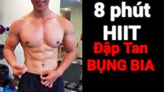 8 Phút HIIT Đập Tan Bụng Bia Cho Dân Văn Phòng HLV Ryan Long Fitness