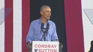 Obama speaks at Cleveland Cordray rally