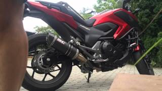 HONDA NC750X SC Project Exhaust Sound