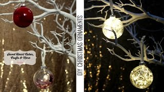 DIY Christmas Ornaments - Glass Xmas Bauble Decorations.