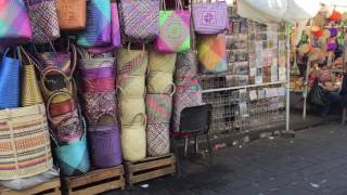 Walking In A Oaxaca Mexico Market And Street View.   Pt 1 Of 4