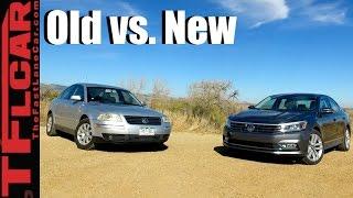 2017 VW Passat vs 2002 VW Passat: Old vs New Review & Drag Race