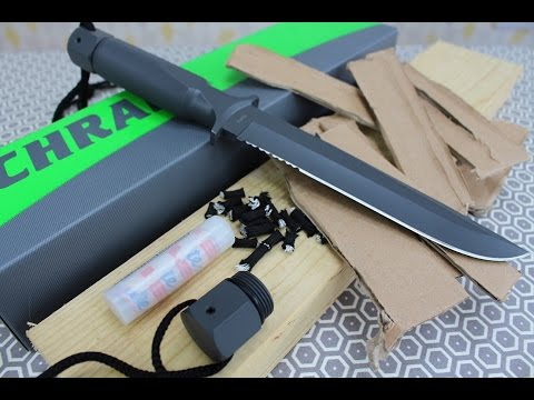 SCHRADE SCHF2 (Plus SCSK2) One Piece Survival Knife *REVIEW*