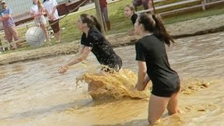 GIRLS MUD VOLLEYBALL!!! (4.15.16 - Day 2543)