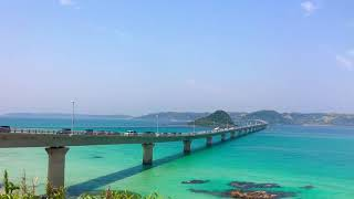 山陰観光一日目山口県の角島大橋、すごく綺麗´▽`