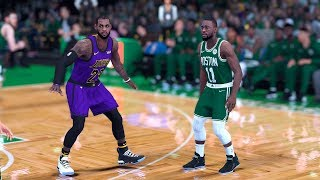 NBA 2K19 - Los Angeles Lakers vs. Boston Celtics - Full Gameplay (Updated Rosters)