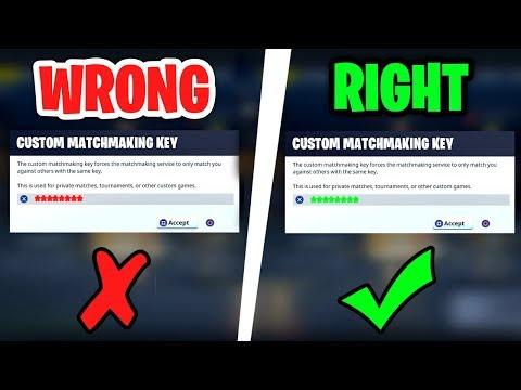 what does custom matchmaking key mean in fortnite right hook up meaning