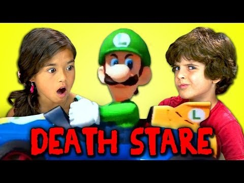 Watch Kids React To The Luigi Death Stare