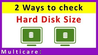How to check hard disk size in your computer