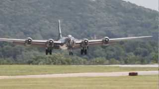 B-29 Superfortress Fifi Making a High Crosswind Landing