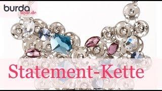 burda style – Schmuck: Kette mit Swarovski-Kristallen basteln