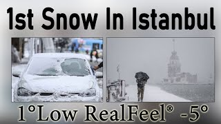 1st Snow In Istanbul Turkey Europe Side | Snowfall Turkey | Tour And Travel With Hamid Abbas.