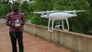 Phantom 4 Pro Drone Camera ( Helicam ) Unboxing , Setup and First fly - Tamil-Phantom 4 pro in India