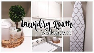 SMALL LAUNDRY ROOM MAKEOVER | LAUNDRY ROOM ORGANIZATION IDEAS | AFFORDABLE BEFORE & AFTER REMODEL