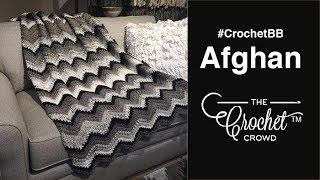 Crochet Bean Stitch Chevron Blanket