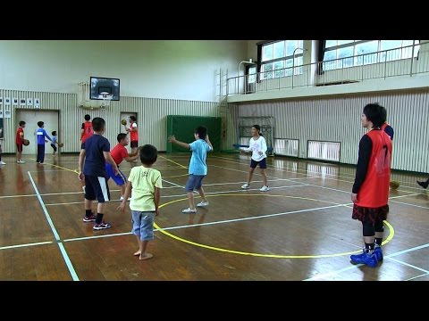 種子島の学校活動:平山小学校バスケットボール教室