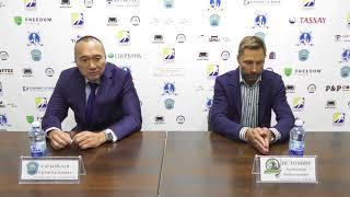 Послематчевая пресс-конференция главных тренеров «Алтай Торпедо» и «Бейбарыса»