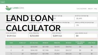 Loan Calculator for Buying Land   Land Loan Calculator