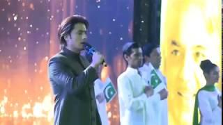 Ali Zafar sings the National Anthem of Pakistan !