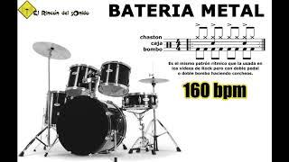 Bateria metal 160 bpm doble bombo binario