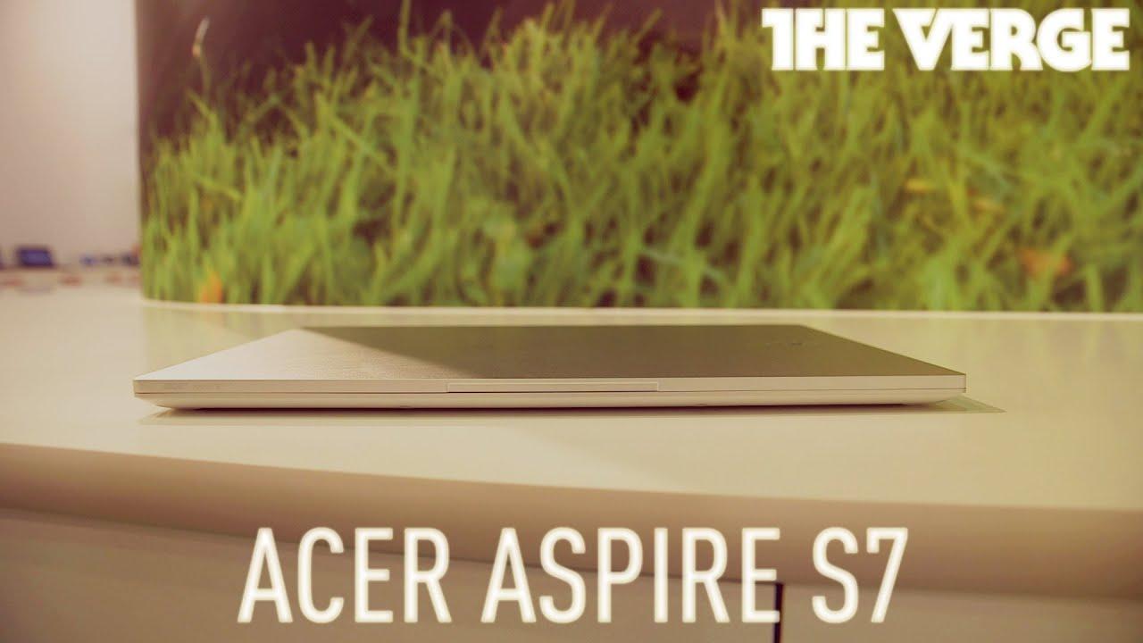 Acer Aspire S7 Windows 8 Touchscreen Ultrabook hands-on demo thumbnail