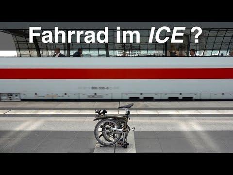 Brompton Faltrad im ICE Zug der Deutschen Bahn. Reisebericht Zugfahrt Hannover - Berlin. #IQVLOG