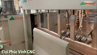 Máy chép hình CNC Woodmaster 4 trục | 2 trục đáng Tubi 2 trục chà nhám