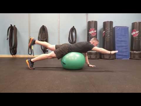 Stability Ball Bird Dog