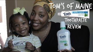 Tom's Of Maine Toothpaste Review | Healthy Finds With The Family O